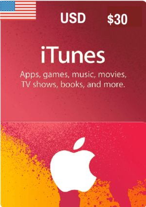 iTunes Gift Card USD $30