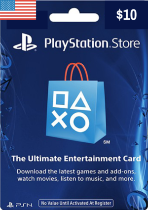 PlayStation Network Card USD $10