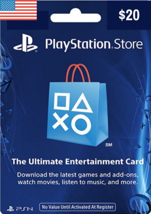 PlayStation Network Card USD $20