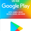 Google Play Gift Card USD $10