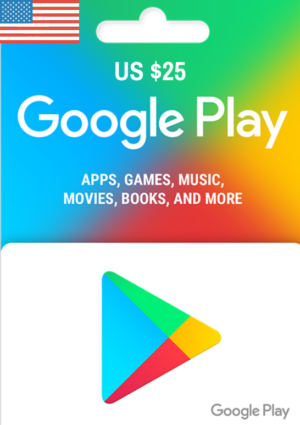 Google Play Gift Card USD $25